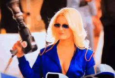 Drew Barrymore cleavage in a racing jumpsuit from 'Charlie's Angels' ~ gif