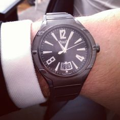 a9804cfef90 Piaget  Polo FortyFive  watch. ADLC-treated titanium case and ADLC-treated