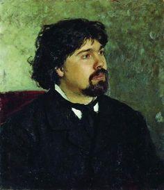 Portrait of the Artist Vasily Surikov - Ilya Repin