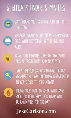 5 Rituals Under 5 Minutes