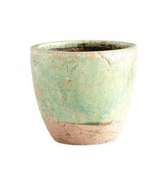 Cyan Design Ceramic Small Hosta Planter in Green Glaze