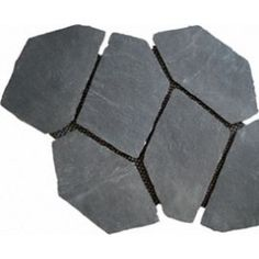 Install PEX tubing on existing drive and finish with this - Midnight Black Mesh Maunted Flagstone 2.75 SQ.FT./Mesh  $4.99