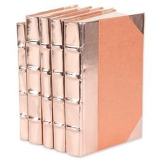 Metallic Rose Gold Book Set of 5 /LaylaGrayce/ Rose Gold Rooms, Rose Gold Decor, Deco Rose, Gold Book, Gold Everything, Copper Rose, Leather Books, Teen Room Decor, My New Room