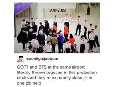 """Aww they look like lost puppies in a pen! And security officers look cute holding hands making a barrier like """"we must protect the puppies!!!"""""""