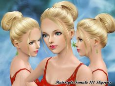 Hair-111 by Skysims at The Sims Resource - Sims 3 Finds