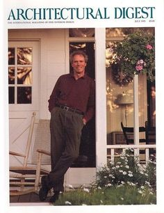 Architectural Digest Clint Eastwood Cottage Style 07/93