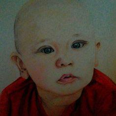 #drawing #pastel #pencil #art #nephew #baby