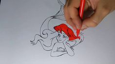 Desenho Ariel Pequena Sereia 2016