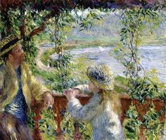 """""""By the Water or Near the Lake"""", 1880, Pierre-Auguste Renoir. Art Institute of Chicago."""
