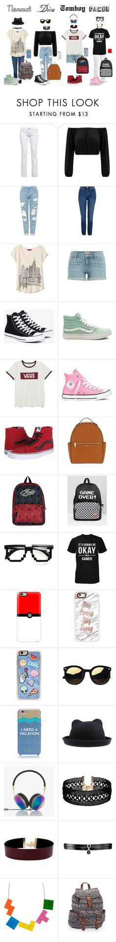 """""""Types Of Girls!"""" by jedezepo on Polyvore featuring Topshop, Banana Republic, Paige Denim, Converse, Vans, Henri Bendel, ZeroUV, Casetify, Zero Gravity and Kate Spade"""