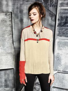 #danieladallavalle #collection #elisacavaletti #fw15 #red #sand #shirt #necklace