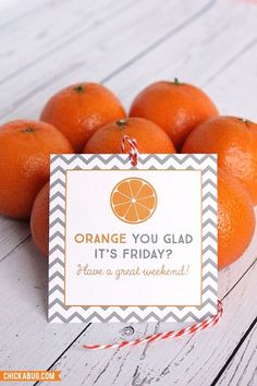 Orange you glad it's Friday? #appreciationgifts