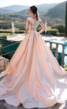 2019 bridal cap sleeves wedding dress with pockets covered w.- 2019 bridal cap sleeves wedding dress with pockets covered wirh simple clean neckline back chapel train bride gown from Handmade Dress Please+noted: Western Wedding Dresses, Bridal Dresses, Bridesmaid Dresses, Dresses Dresses, Wedding Dress With Pockets, Wedding Dress Sleeves, Gown Wedding, Dress Lace, Blush Lace Wedding Dress