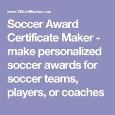 Free printable soccer certificates soccer awards soccer soccer award certificate maker make personalized soccer awards for soccer teams players or yelopaper Image collections