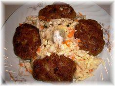 Χοιρινά κεφτεδάκια με πράσο Cookbook Recipes, Cooking Recipes, Grains, Rice, Meat, Chicken, Food, Cooker Recipes, Chef Recipes