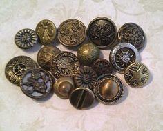 Original Antique And Vintage Diminutive Metal Buttons. http://www.ebay.com/itm/Original-Antique-And-Vintage-Diminutive-Metal-Buttons-/262343552465
