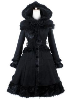 Shop lolita at RebelsMarket. Find affordable lolita from hundreds of alternative and lifestyle fashion brands. Lolita Cosplay, Hooded Winter Coat, Long Winter Coats, Winter Coats Women, Autumn Coat, Style Lolita, Gothic Lolita, Lolita Fashion, Gothic Fashion
