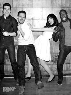 New Girl Cast - Max Greenfield, Jake M Johnson, Zooey Deschanel & Lamorne Morris Movies And Series, Movies And Tv Shows, Tv Series, New Girl Cast, New Girl Show, Thats 70 Show, Plus Tv, Jake Johnson, Zooey Deschanel