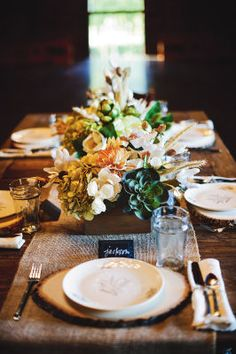 Rustic Elegance Wedding Centerpiece can easily be adapted to any color scheme.