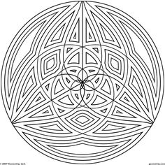 Difficult Geometric Design Coloring Pages   Circles: Page 3 of 5