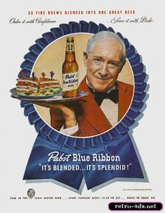 Pabst Blue Ribbon.