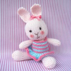 Candytuft  knitted toy bunny rabbit  INSTANT DOWNLOAD  by toyshelf, $3.95