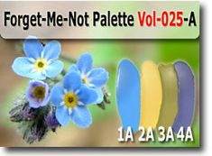 Forget-Me-Not Polymer Clay Color Palette