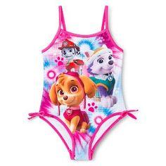 Paw Patrol Toddler Girls' 1-Piece Swimsuit - Pink