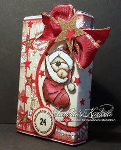 Claudia's Karteria Claudia S, Box, Christmas Crafts, Challenges, Gift Wrapping, Gifts, Winter, Boxes, Bricolage