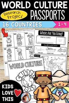 World Culture Activities for Kids - These engaging activities make teaching a. Social Studies Activities, Teaching Social Studies, Culture Activities, Elementary Social Studies, Summer School Activities, Activities For Kids, Multicultural Activities, Fun Learning, Teaching Kids