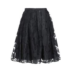 Relaxfeel Women's Organza Pleated Skirts-White ($20) ❤ liked on Polyvore featuring black