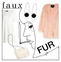 """""""faux fur"""" by janesmiley ❤ liked on Polyvore featuring Unreal Fur, Miss Selfridge and Proenza Schouler"""