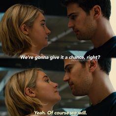 ALLEGIANT!!!! Divergent Four, Divergent Fandom, Divergent Funny, Divergent Trilogy, Divergent Insurgent Allegiant, Veronica Roth, Shailene Woodley, Theo James, We Fall In Love