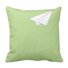 nursery pillow paper aircraft boy child airplane. ** See more at the image