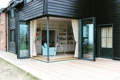Wow this extension with two bi-folding doors separated with a corner mullion looks amazing. We would love to work on a project like this, for your free quote on Bi-folding doors please visit www.csggroup.co.uk