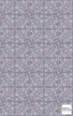 David & Goliath Cement tile Emma Antracithe 20x20cm