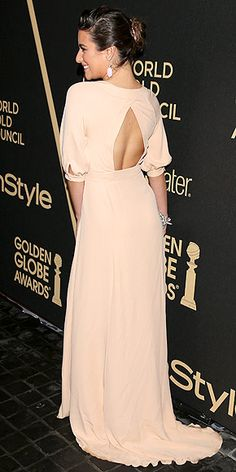 Lea Michele in a backless blush creation http://www.peoplestylewatch.com/people/stylewatch/gallery/0,,20590676,00.html#