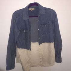 ByCorpus Denim Button up ombré denim Urban Outfitters Tops Button Down Shirts