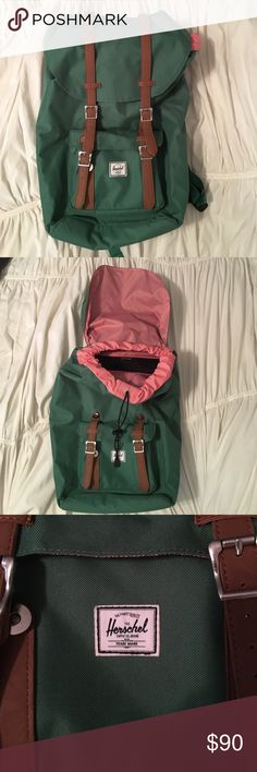 Herschel Supply Little America Backpack This cute little backpack is basically new. I just don't have a use for it anymore. There's a ton of space on the inside and even a little pouch for a laptop. Herschel Supply Company Bags Backpacks