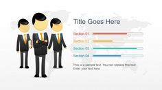 Business Man Character Slide Design for Business PowerPoint Presentations #PowerPoint #templates #business #cartoon #illustrations