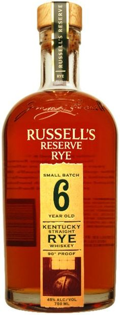Russell's Reserve 6 Year Old Small Batch Straight Rye Whiskey.The perfect 6 year old rye..  spiritedgifts.com