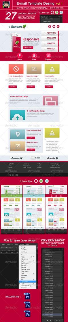 Vintage yet modern email template design - Emma Email Marketing - marketing email template