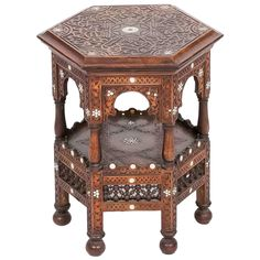 19th C. North African Mahogany Occasional Table | From a unique collection of antique and modern tables at https://www.1stdibs.com/furniture/tables/tables/