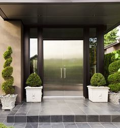 love everything about the entry ~ reflective door entryway