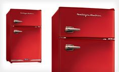 Groupon - $176 for a Nostalgia Electrics Retro Refrigerator in Black or Red ($249.99 List Price). Free Shipping and Free Returns. in Online Deal. Groupon deal price: $176.00