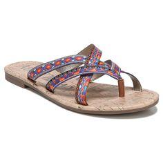 Women's Sam & Libby Barcelona Global Slide Sandals - Multicolor 6.5, Multicolored