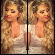 """Love this """"Faux Side Shave"""" just three strands twisted on the side"""