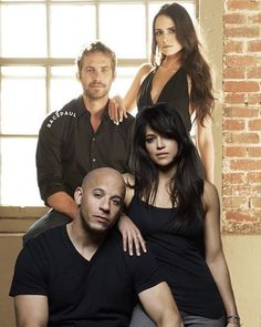 Fast and Furious family ⠀ Vin Diesel, Fast And Furious Cast, The Furious, Michelle Rodriguez, Dom And Letty, Furious Movie, Rip Paul Walker, Japanese Film, Hollywood