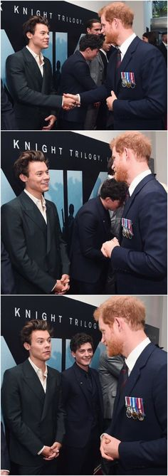 NEW | Harry & Harry! Harry Styles meets Prince Harry at the Dunkirk World Premiere. Follow rickysturn/harry-styles