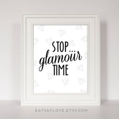 Bathroom Decor, Diamond Print, Glamour Art, Bathroom Art Print, Vanity... ($18) ❤ liked on Polyvore featuring home, home decor, wall art, quote wall art, word wall art, typography wall art and diamond home decor